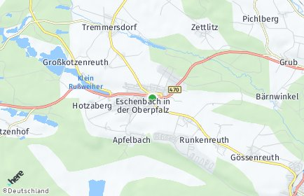 Stadtplan Eschenbach in der Oberpfalz