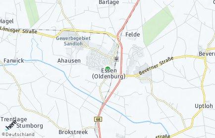 Stadtplan Essen (Oldenburg)