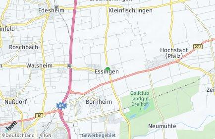 Stadtplan Essingen (Pfalz)