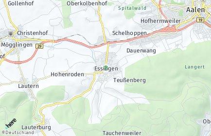 Stadtplan Essingen (Württemberg)