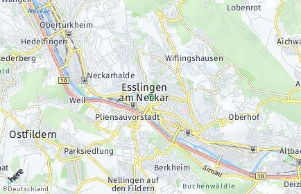Stadtplan Esslingen am Neckar