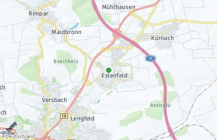 Stadtplan Estenfeld