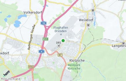Stadtplan Dresden OT Flughafen/Industriegebiet Klotzsche