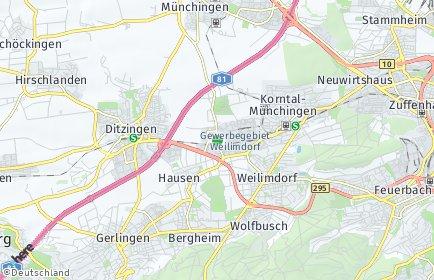 Stadtplan Stuttgart OT Weilimdorf-Nord