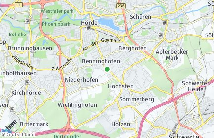 Stadtplan Dortmund OT Benninghofen-Loh