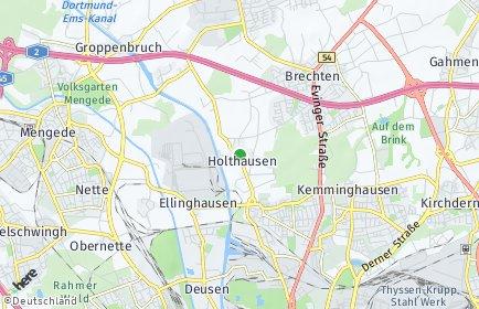 Stadtplan Dortmund OT Holthausen