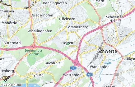 Stadtplan Dortmund OT Holzen