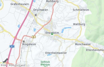 Stadtplan Ettenheim