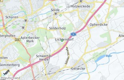 Stadtplan Dortmund OT Lichtendorf