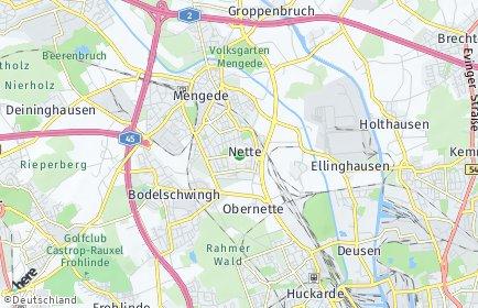 Stadtplan Dortmund OT Nette