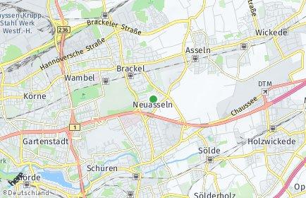 Stadtplan Dortmund OT Neuasseln