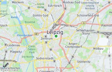 Stadtplan Leipzig OT Zentrum-Ost