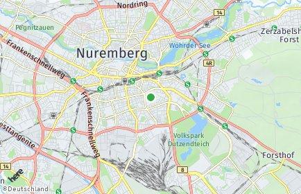 Stadtplan Nürnberg OT Bleiweiß