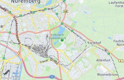Stadtplan Nürnberg OT Dutzendteich