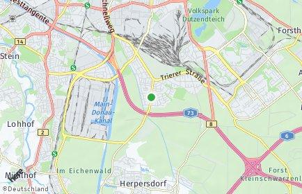Stadtplan Nürnberg OT Falkenheim