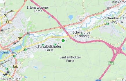 Stadtplan Nürnberg OT Freiland