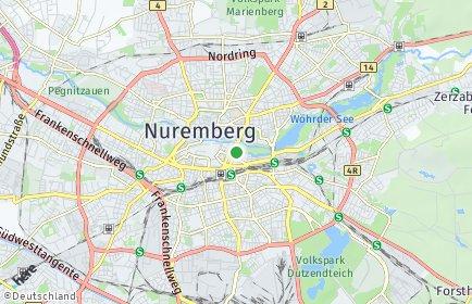 Stadtplan Nürnberg OT Gleißbühl