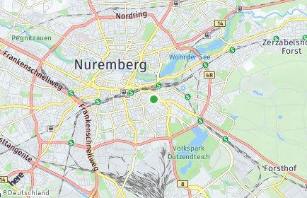 Stadtplan Nürnberg OT Glockenhof