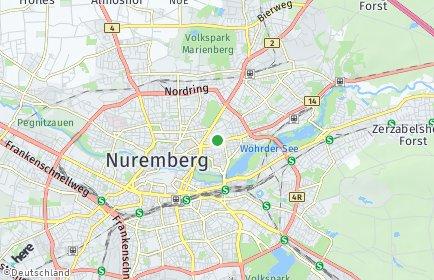 Stadtplan Nürnberg OT Gärten bei Wöhrd