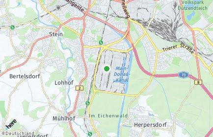 Stadtplan Nürnberg OT Hafen
