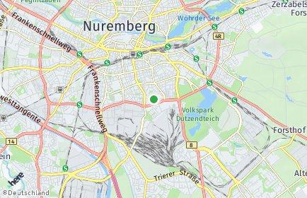 Stadtplan Nürnberg OT Hummelstein