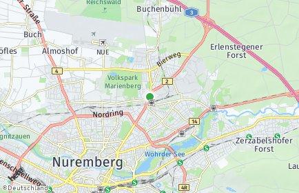 Stadtplan Nürnberg OT Klingenhof