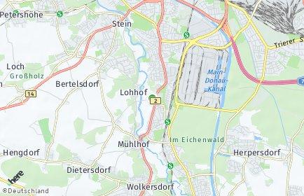 Stadtplan Nürnberg OT Koppenhof