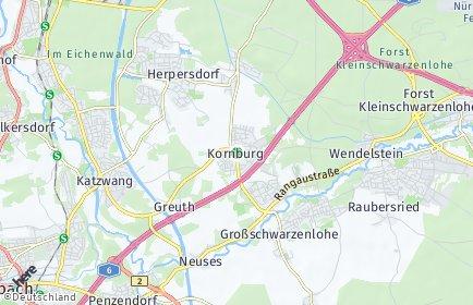 Stadtplan Nürnberg OT Kornburg