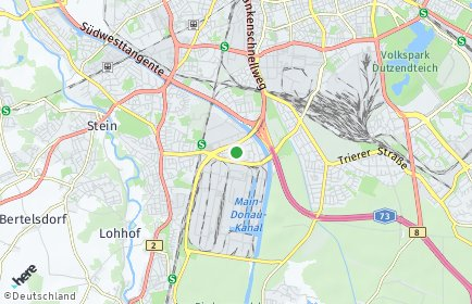Stadtplan Nürnberg OT Maiach
