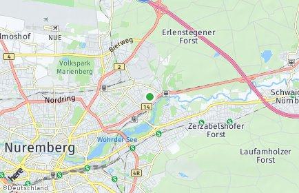 Stadtplan Nürnberg OT Platnersberg