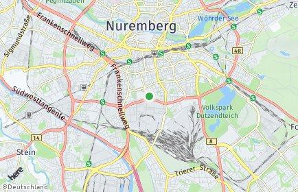 Stadtplan Nürnberg OT Rabus