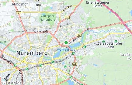 Stadtplan Nürnberg OT Rechenberg