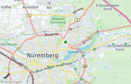 Stadtplan Nürnberg OT Rennweg