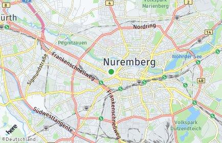 Stadtplan Nürnberg OT Rosenau