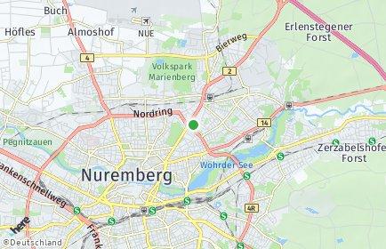 Stadtplan Nürnberg OT Schoppershof