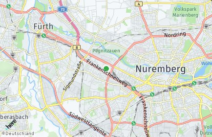 Stadtplan Nürnberg OT Seeleinsbühl