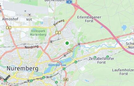 Stadtplan Nürnberg OT Spitalhof