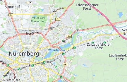 Stadtplan Nürnberg OT St. Jobst