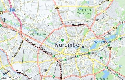 Stadtplan Nürnberg OT St. Johannis