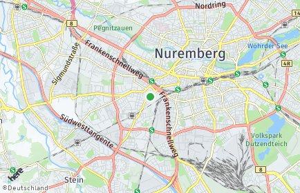 Stadtplan Nürnberg OT St. Leonhard