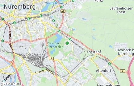 Stadtplan Nürnberg OT Stadion