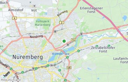 Stadtplan Nürnberg OT Steinplatte