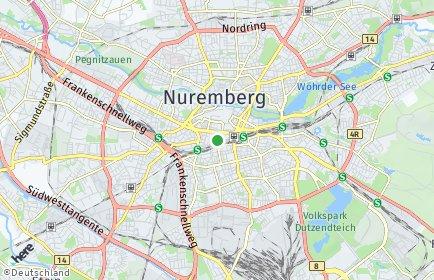 Stadtplan Nürnberg OT Tafelhof