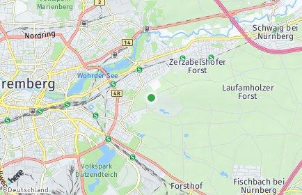 Stadtplan Nürnberg OT Tiergarten