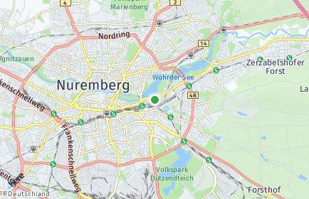 Stadtplan Nürnberg OT Tullnau