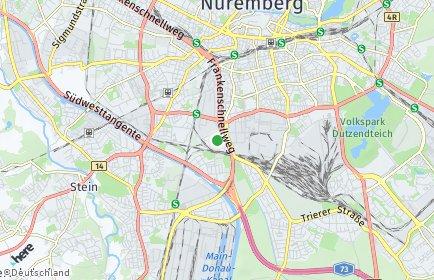 Stadtplan Nürnberg OT Werderau
