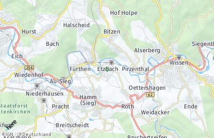 Stadtplan Etzbach