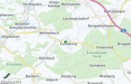 Stadtplan Eurasburg (Schwaben)