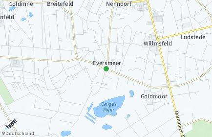 Stadtplan Eversmeer