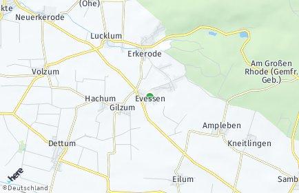 Stadtplan Evessen